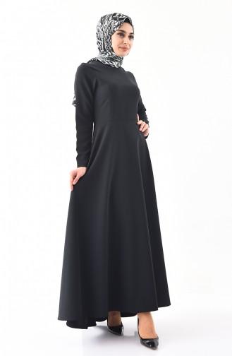 ايلميك فستان بتصميم سادة 5218-04 لون أسود 5218-04