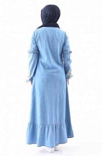Robe Jean Bordée 6124-02 Bleu Jean 6124-02
