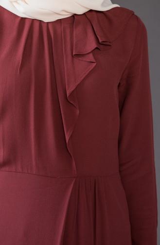 Frilly Dress 1005-03 dark Bordeaux 1005-03