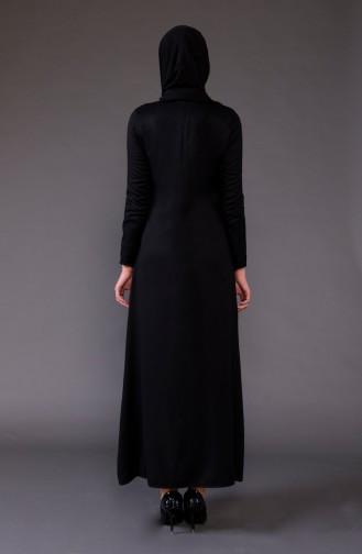 Black İslamitische Jurk 5004-05