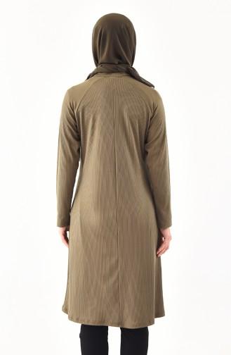 Tunique Garnie Grande Taille 1141-06 Khaki 1141-06