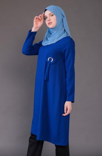 Tunique Détail Poche 5015-03 Bleu Roi 5015-03
