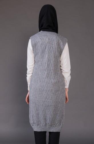 Knitwear Pocket Vest 8110-02 Dark Green 8110-02
