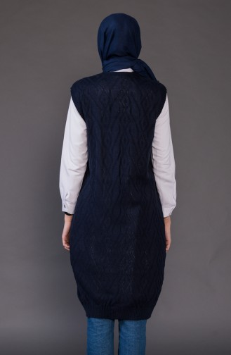 Knitwear Pocket Vest8110-04 Navy Blue 8110-04