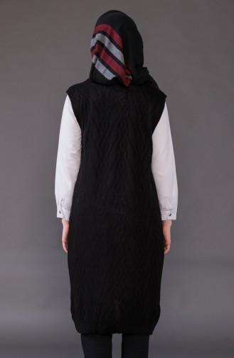 Knitwear Pocket Vest 8110-08 Black 8110-08