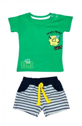 Baby Boy Shark Detail 2 Pcs Set A9577 Green 9577