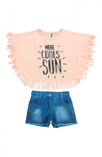 Baby Tasseled T-Shirt & Shorts Set  A9588 Pink 9588