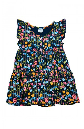 Navy Blue Baby and Kids Dress 9601
