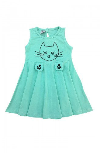 Green Baby and Kids Dress 9602