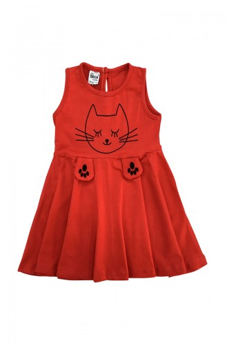 Red Baby and Kids Dress 9604