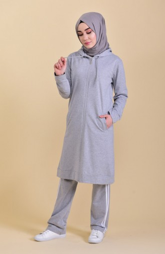 Zippered Tracksuit 30100C-03 Gray 30100C-03