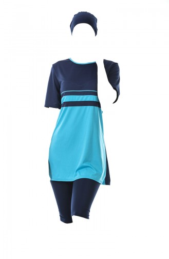 Turquoise Swimsuit Hijab 0318-04