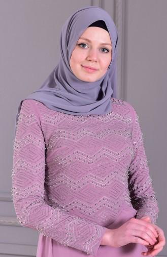 Robe de Soirée Perlées 8502-02 Lila 8502-02