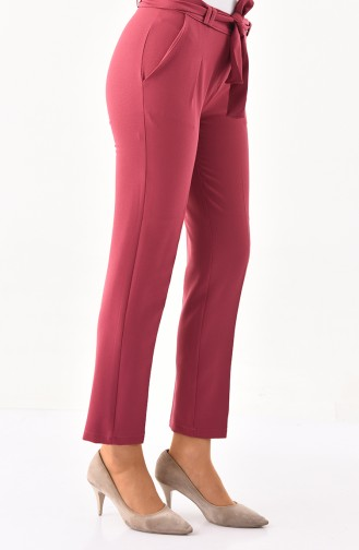 Belted Pants 1002-01 Dark Dried Rose 1002-01