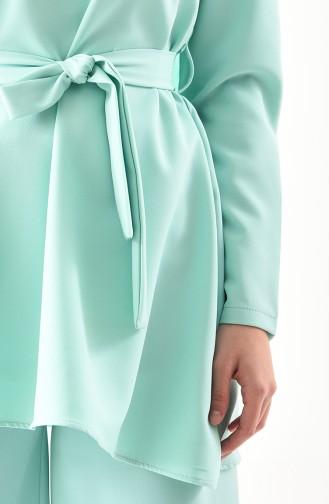 Tunik Pantolon İkili Takım 5597-04 Mint Yeşili