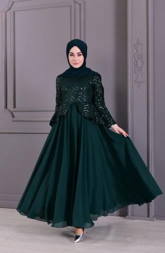 Abendkleid mit Pailetten 8796-03 Smaragdgrün 8796-03