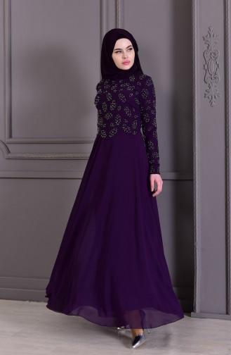 Habillé Hijab Pourpre 8501-03