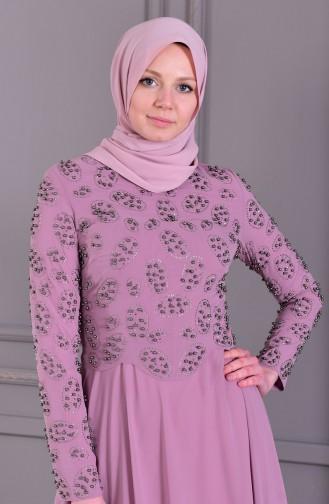 Pearls Evening Dress 8501-05 Lilac 8501-05