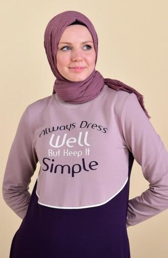 بي وست فستان رياضي بتصميم مُطبع 9026-03 لون بنفسجي 9026-03
