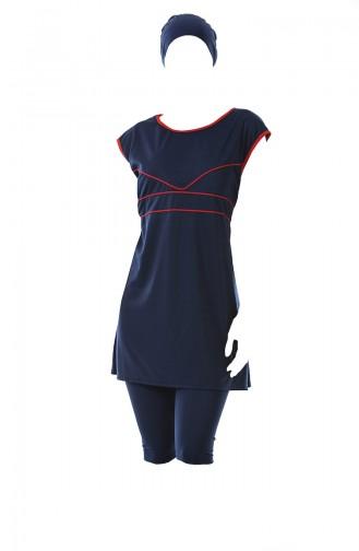 Navy Blue Swimsuit Hijab 0305-04