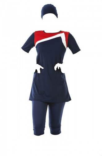 Navy Blue Swimsuit Hijab 0316-01