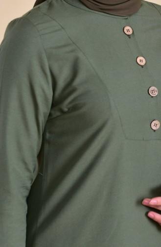 Buttons Detailed Tunic 1272-01Khaki 1272-01
