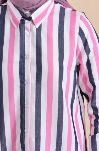 Minahill Striped Viscose Tunic 8218-03 Powder 8218-03
