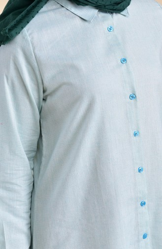 Oyya Cotton Linen Tunic 8123-01 Mint Green 8123-01