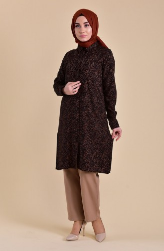 Oyya Viscose Printed Tunic 8125-01 Cinnamon Color 8125-01