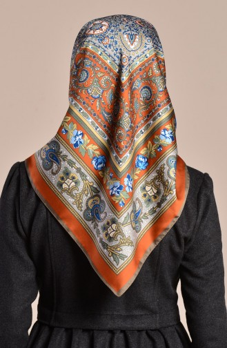 Karaca Patterned Rayon Shawl 90567-06 Cinnamon Mink 90567-06
