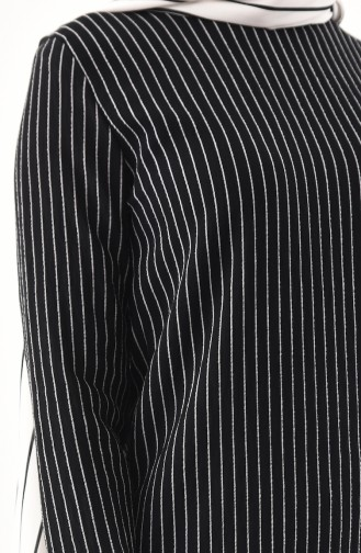 BURUN   Striped Tunic Trousers Double Suit 11179-06 Black 11179-06