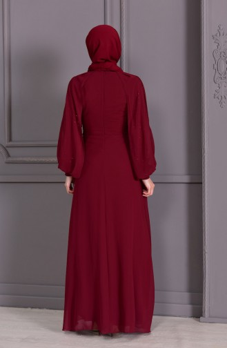 Cape Evening Dress 52736-06 Bordeaux 52736-06