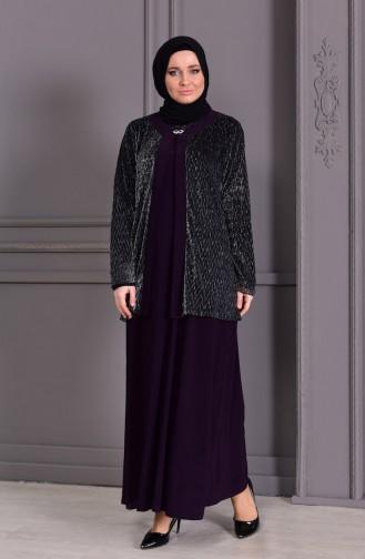 Habillé Hijab Pourpre 7002-02
