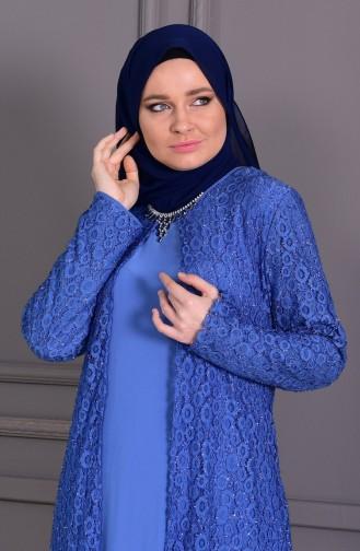Habillé Hijab Bleu 1062-02