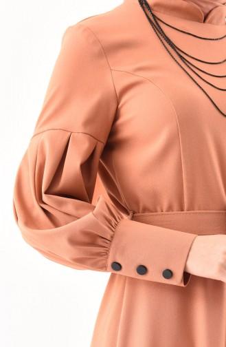 Kemerli Elbise 2023-01 Soğan Kabuğu 2023-01
