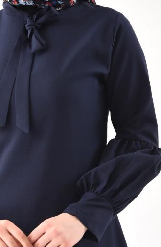 Tunique Col Cravate 3042-02 Bleu Marine 3042-02