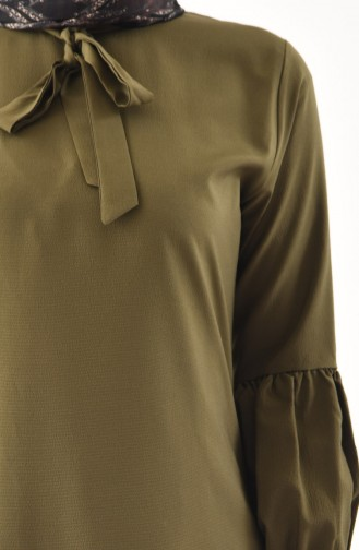 Krawatten Kragen Tunika 3042-05 Khaki 3042-05