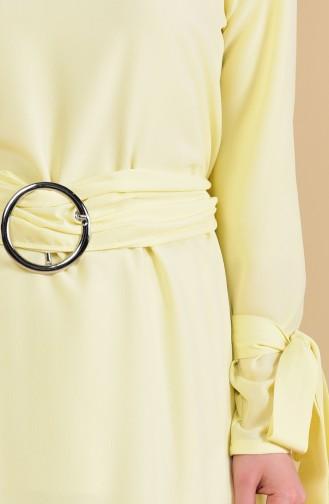 تونيك بتصميم حزام للخصر 1274-06 لون أصفر 1274-06