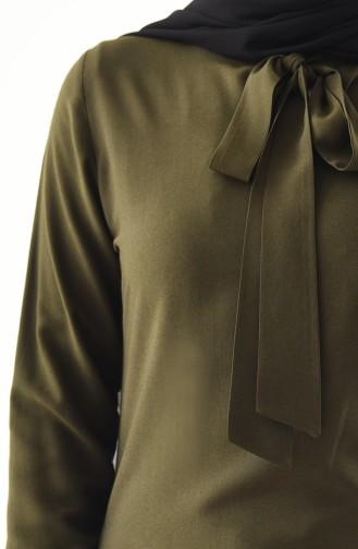 Tunique Col Cravate 3159-05 Khaki 3159-05