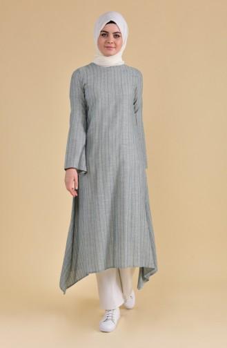 Oyya Long Cotton Tunic 9002-01 Emerald Green 9002-01
