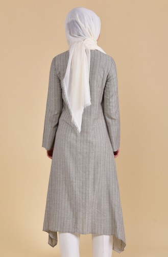 Oyya Long Cotton Tunic 9002-03 Khaki 9002-03