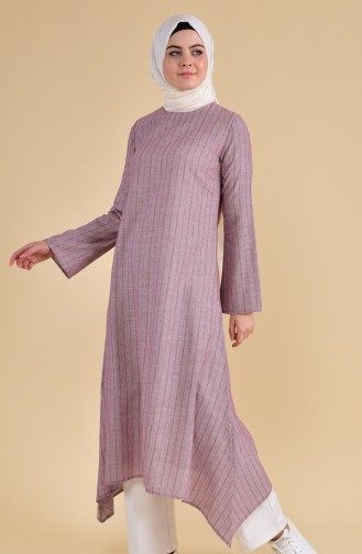 Oyya Long Cotton Tunic 9002-05 Bordeaux 9002-05