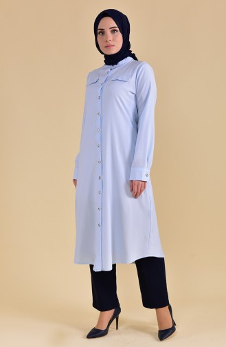 Buttoned Tunic 5007-13 Baby Blue 5007-13