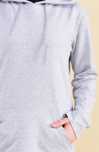 Hooded Tracksuit  18133-08 Gray Navy 18133-08