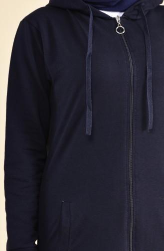 بدلة رياضية بتصميم سحاب 30100C-02 لون كحلي 30100C-02
