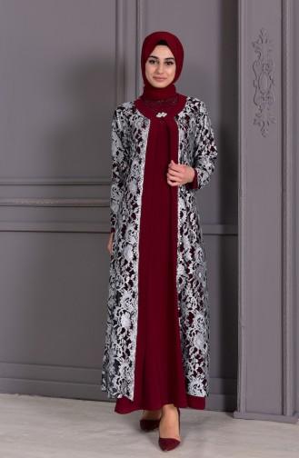 Habillé Hijab Bordeaux 7000-01