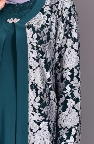 Habillé Hijab Vert emeraude 7000-02