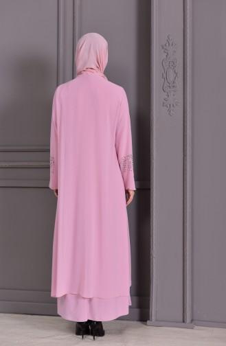 Robe de Soirée Grande Taille 1069-06 Poudre 1069-06