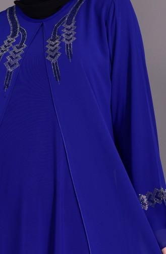 Robe de Soirée Grande Taille 1101-06 Bleu Roi 1101-06