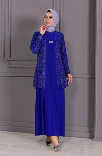 METEX Large Size Brooch Evening Dress 1111-03 Saks 1111-03